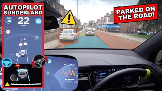 will it avoid illegal parking?! - Tesla Autopilot in a UK City #15 Sunderland by Pokemon Cards