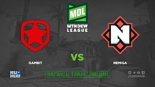Gambit vs Nemiga - ESEA MDL 27 - de_overpass [ceh9, yXo]