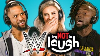 Video WWE Superstars React To Try Not To Laugh Challenge MP3, 3GP, MP4, WEBM, AVI, FLV Desember 2018