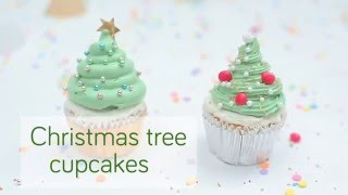 Christmas tree cupcakes video