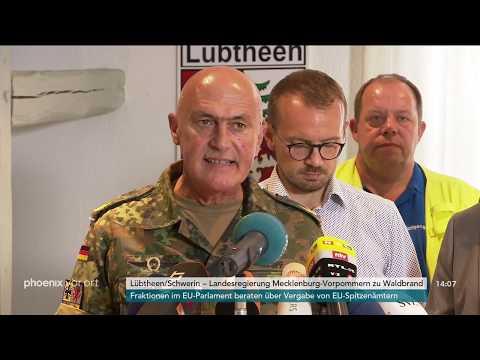 Pressekonferenz der Landesregierung zu den Waldbränden in Mecklenburg-Vorpommern am 02.07.2019