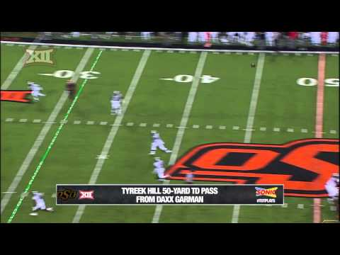 Tyreek Hill 50-yard touchdown catch vs Texas Tech 2014 video.