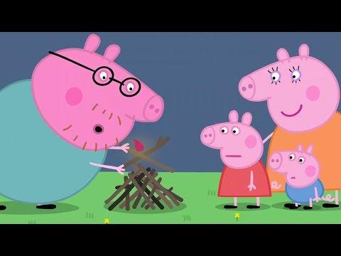 Peppa Pig Nederlands Compilatie Nieuwe Afleveringen  Kamperen!  Tekenfilm  Peppa de Big