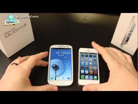 Galaxy S3 vs iphone 4S - Follow me on twitter! http://www.twitter.com/jayztwocents Today we take Samsung's Flagship Galaxy S3 and square it off with Apple's iPhone 5 to see who is ki...