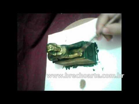 Bronze simples, artesanato em gesso, pintura em gesso