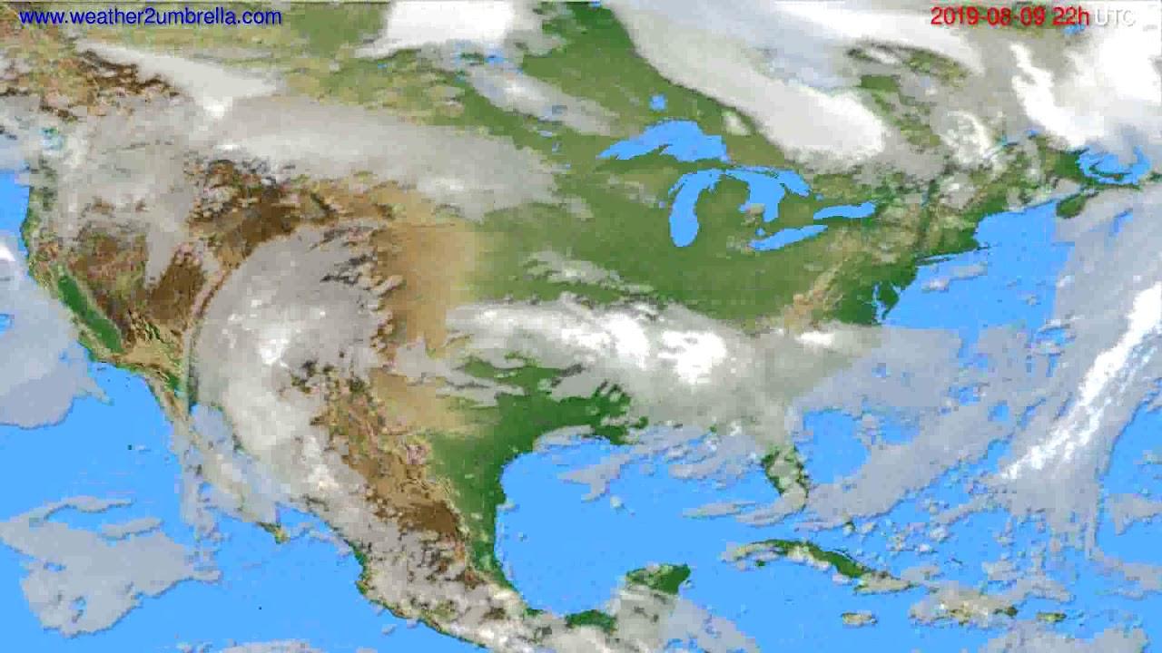 Cloud forecast USA & Canada // modelrun: 12h UTC 2019-08-07