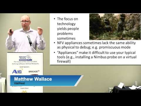 Requirements for SDN by Matthew Wallace, ViaWest (Defining Software Defined Networks)