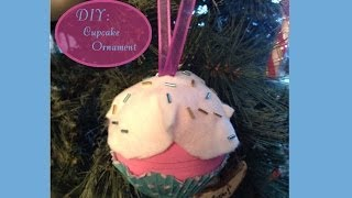 DIY: Cupcake Ornament - YouTube