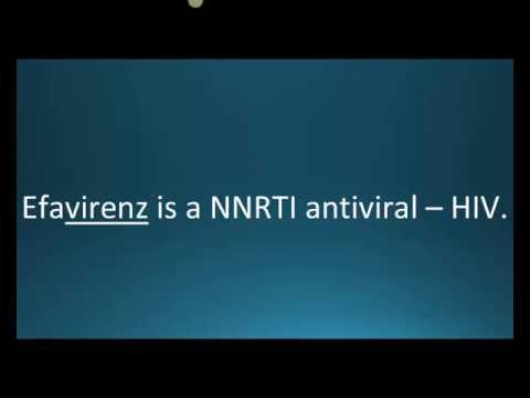 How to pronounce efavirenz (Sustiva) (Memorizing Pharmacology Flashcard)