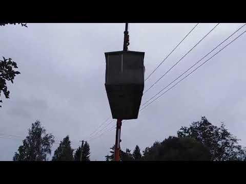 Видео установки мобильной бани в деревне Глажево 29 07 2019