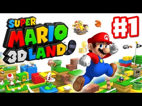 Super Mario 3D Land - Walkthrough Part 1 - World 1 (Nintendo 3DS Gameplay)