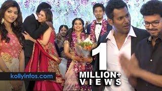 Video Wow Full video !! Rajinikanth, Vijay, Hansika More Celebrities at Vishal 's sister Wedding Reception MP3, 3GP, MP4, WEBM, AVI, FLV April 2019