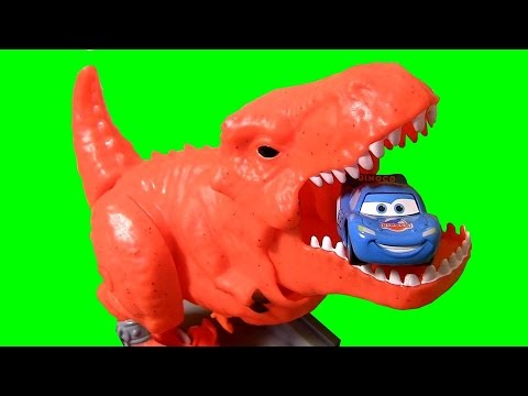 dinosaur - Welcome to BluCollection ToyCollector. Its Dino Attack! Check out when T-Rex Dinosaur eats Cars like Dinoco Lightning McQueen. This is the Matchbox Dino Breakout playset from Mattel using Disney.