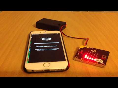 First use of BBC micro:bit app for iOS