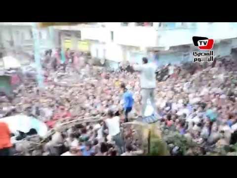 الآلاف يشيعون جثمان شهيد في حادث الشيخ زويد بالدقهلية