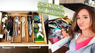 organizing my kitchen again... cause i can't keep it clean by Alisha Marie Vlogs