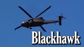 We spotted this Blackhawk helicopter flying overhead in Festus, MO today.  Probably National Guard from a nearby base.   Nothing super exciting, but thought somebody might find it interesting.