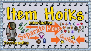 """Comprehensive Introduction with Examples. Automate Gathering & Separating Dropped Items, Trawl All The Fallen Stars from the Sky Plus More Uses Explained. Guide / Tutorial.+ VIDEO INDEX:00:32 - 3 Item Size Categories01:21 - (*) Jellyfish Farm Hoik (separate necklaces from glowsticks)01:46 - Size 1 Horizontal Hoik02:27 - (*) Shark Shredder (separate fins from helmets)03:20 - Notes: [1] Active stone looses shape [2] lava disappears04:11 - Health & Mana Star Hoiks04:40 - Teleporter Float Glitch05:16 - Size 1 Active Vertical Hoik05:50 - (*) Pumpkin Moon Grinder Pit Health Extractor06:20 - Size 2 & 3 Verticals07:06 - Down Hoiks07:39 - Size 3 Horizontal Hoiks08:23 - Size 2 Horizontal Hoiks08:48 - (*) Antlion (Mandible) & Vulture Auto-Farm09:25 - Universal Horizontal Hoiks (inc. souls)09:59 - Ghost Wall Glitch10:19 - Examples of Size 1, 2 and 3 items10:47 - Item Hoik Loop11:11 - (*) Fallen Star Hoik/Trawler11:39 - (*) Mushroom Vending Machine(*) = Application Examples+ REFERENCES:Floating Teleporter Placement Bug (by Scheper) - https://www.youtube.com/watch?v=I4SJy_Tfemo+ CREDITS:All footage shot in Terraria 1.2.4.1 for PC.No mods or 3rd party content!Game IP belongs to Re-Logic.Music from Terraria Soundtrack Volumes 1 & 2 by Scott Lloyd Shelly (Resonance array):http://re-logic.bandcamp.com/Video captured with Fraps, edited in trakAxPC.+ HOIK LINKS:Item Hoik Forum Guide - http://forums.terraria.org/index.php?threads/item-hoiks-guide-video-move-seperate-drops-trawl-fallen-stars-and-more.4140/Original Player Hoik Promo - http://youtu.be/bi335VOnBZw?list=PL6o310lEzS9WYvBZsNVy2rLX8PPUkmUiKDetailed Forum Guide on Player Transport Hoiks and General Information - http://forums.terraria.org/index.php?threads/hoik-guide-rapid-player-npc-etc-transport-using-only-sloped-tiles.1656/""""Hoik Demo World"""" Download (V0.2) - https://www.dropbox.com/s/qgwdsn5r2rmsq6q/Hoik_Demo_WorldV0_2.zip?dl=1"""