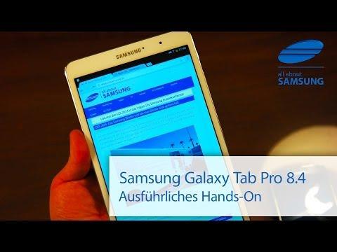 Samsung Galaxy Tab Pro 8.4 ausführliches Hands-On deutsch HD
