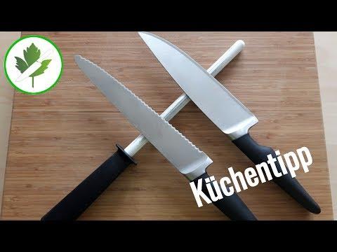 Sägemesser / Brotmesser schärfen - Schneller Küchentipp