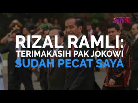 Rizal Ramli: Terimakasih Pak Jokowi Sudah Pecat Saya