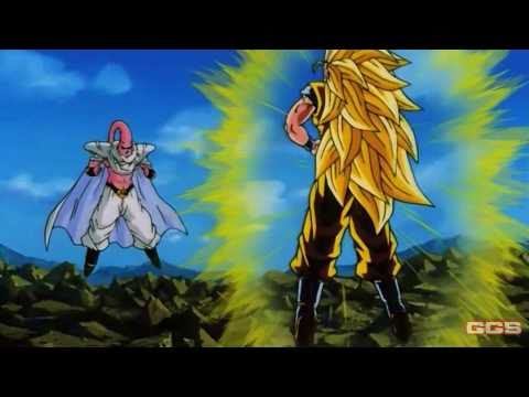 SSJ3 Goku Vs Super Buu(Gotenks Absorbed)[1080p HD]