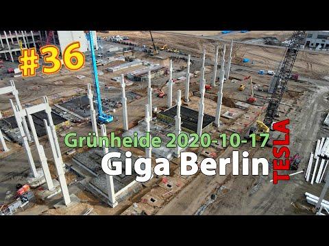 #36 Tesla Giga Berlin • 2020-10-17 • Gigafactory 4K