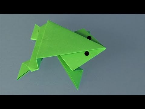 Learn origami, make a paper Frog