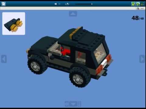 Как сделать лего джип видео с багажником