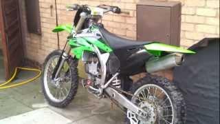 9. 2005 Kawasaki kx250f Idle