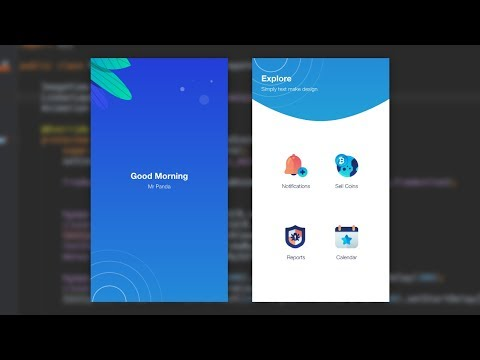 Splash Home Mobile UI Design Animation Adobe Xd to Android Studio Tutorial