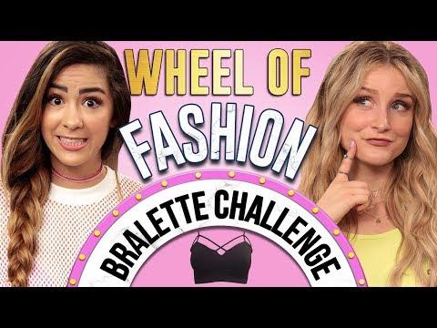 BRALETTE CHALLENGE?! Wheel of Fashion w/ Cassie Diamond & Caroline Tucker