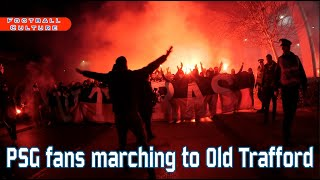 Download Video PSG fans marching to Old Trafford MP3 3GP MP4