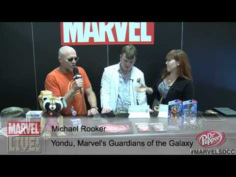 Michael - Actor Michael Rooker reveals Yondu's theme song and explains his head fin...thing in Marvel's Guardians of the Galaxy at San Diego Comic-Con 2014! Can't make it to the convention? Don't forget...