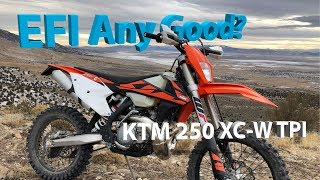 6. First Few Minutes on the 2018 KTM 250 XC-W TPI Fuel Injected 2 Stroke