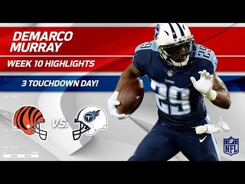 Video: DeMarco Murray Gets the Hat Trick w/ 3 TDs vs. Cincinnati! | Bengals vs. Titans | Wk 10 Player HLs