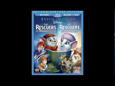 The Rescuers 35th Anniversary & The Rescuers Down Under Blu Ray Cover REVEALED!