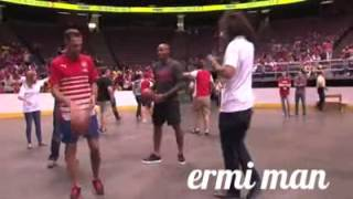 Arsenal's Gedion Zelalem Showed Basketball Skills