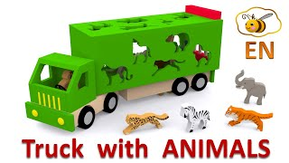 Trucks for children. Learn wild animals in English! Cartoons for babies 1 year full download video download mp3 download music download