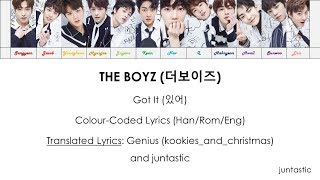 [ENG] The Boyz (더보이즈) - Got It (있어) Colour-Coded Lyrics