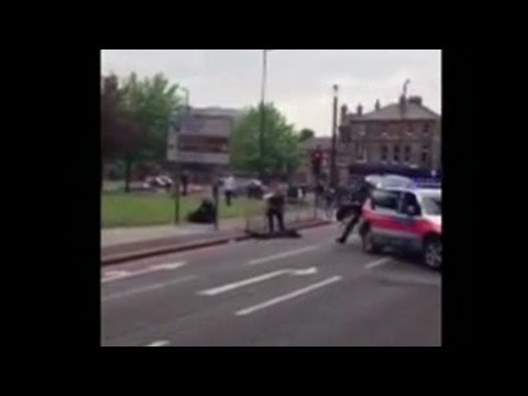 shows - Video posted to YouTube shows the scene of the attack in London's Woolwich area. For more CNN videos, visit our site at http://www.cnn.com/video/