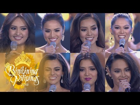 Binibining Pilipinas 2018: Top 8-15 Question & Answer Portion (видео)
