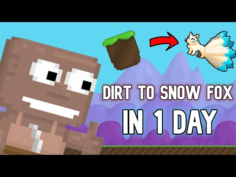DIRT TO MYSTIC SNOW FOX IN 1 DAY! (CRAZY PROFIT)   Growtopia
