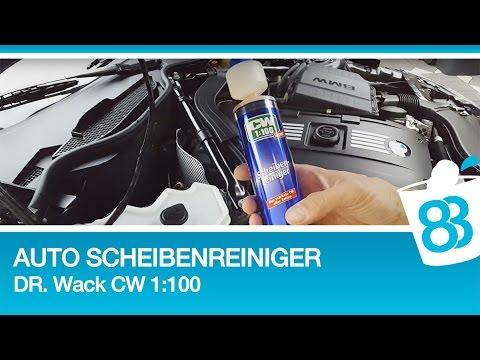 Auto Scheibenreiniger Konzentrat Test Dr Wack CW1:100 Super Scheibenreiniger für Scheibenwaschanlage