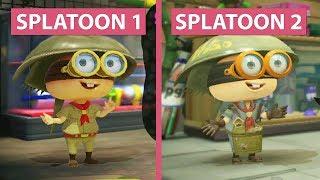 GameStar PCs  Gaming PCs & Notebooks: http://www.one.de/shop/index.phpBuy Splatoon 2 here (US): http://amzn.to/2t9T2eBSplatoon 2 kaufen (DE): http://amzn.to/2ta8jfbSplatoon 2 will be out soon for Nintendo Switch. We compare Splatoon 1 on Wii U with the demo version of Splatoon 2. While the first part runs at 720p with 60 fps, the second part gets a resolution bump to 1080p and 60 frames per second.---------------------Bald erscheint Splatoon 2 für die Nintendo Switch, wir werfen daher einen Blick darauf und vergleichen die Demo mit Splatoon 1 für die Wii U. Während dieser noch mit 720p und 60 Bildern pro Sekunde lief, bekommt Splatoon 2 auf der Switch ein kleines Upgrade in Sachen Auflösung: es läuft hier mit 1080p und 60 fps. Die höhere Auflösung macht sich durchaus bemerkbar – vor allem Kanten sind besser geglättet. Blickt man auf einzelne Szenen im Detail, dann stellt man fest, dass auch ein kleines bisschen an der Grafik geschraubt worden ist. Figuren und Umgebung wirken detaillierter, Lichteffekte und Shader ein wenig besser.Candyland on Facebook: https://www.facebook.com/candylandGSCandyland on Twitter: https://twitter.com/CandylandGSMusic: Splatoon 1 – Splattack! (Jam Session)System used in this video:GameStar-PC Ultra------------------------------------Hier kaufen: http://bit.ly/1O7piZCIntel Core i7 6700K 4.00 GHz16 GB DDR4 RAMNvidia GeForce GTX 1080 TiMSI Z170A PC Mate MainboardWindows 10 Pro 64bit