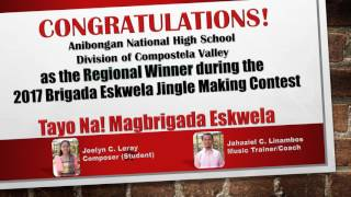 Regional Winner Brigada Eskwela Jingle Making Contest