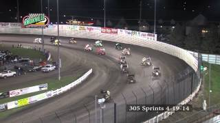 305 Highlights: April 19th, 2014 Knoxville Raceway / Pella Motors Race for Schools Season Opener