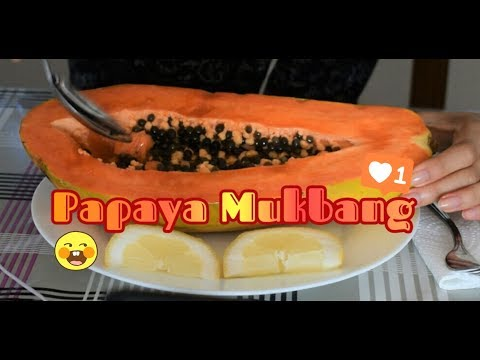 ASMR: Papaya Mukbang 🍈🍍| No Talking | Eating & Mouth Sounds