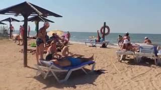 Голубицкая- центральный пляж - обстановка лета 2016- Озеро