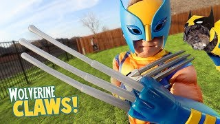 Video Wolverine Claws! Super Hero Gear Test & Toys Review for Kids! MP3, 3GP, MP4, WEBM, AVI, FLV Maret 2018